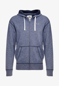 Hollister Co. - CORE ICON - Huvtröja med dragkedja - textural navy - 4