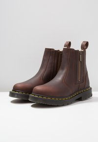 Dr. Martens - 2976 ALYSON ZIPS SNOWPLOW - Classic ankle boots - dark brown - 4