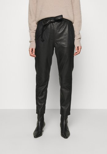 INDIE NEW TROUSERS - Leather trousers - black