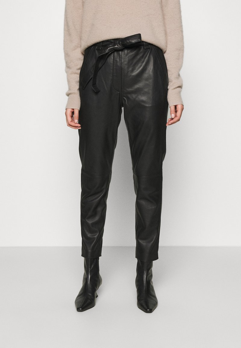 Second Female - INDIE NEW TROUSERS - Leather trousers - black