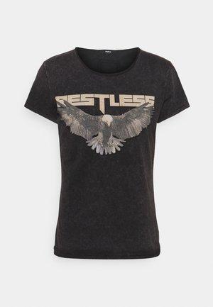RESTLESS WREN - Print T-shirt - vintage black