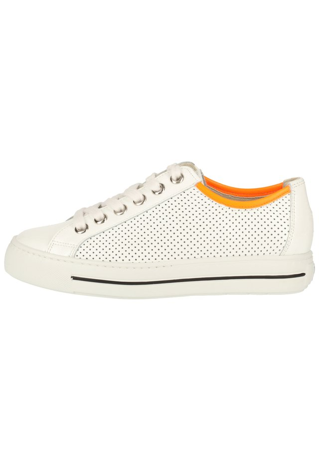 PAUL GREEN SNEAKER - Sneakersy niskie - weiß/orange 26