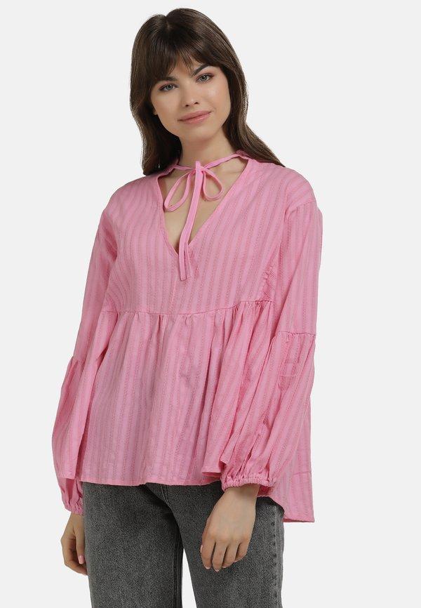 myMo BLUSE - Bluzka - pink/rÓżowy MPND