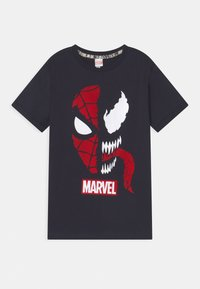 OVS - SPIDERMAN 2 PACK - T-shirt con stampa - black beauty/bright white - 2