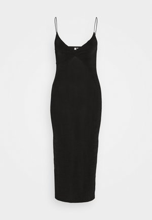 PCALBA STRAP DRESS - Žerzejové šaty - black