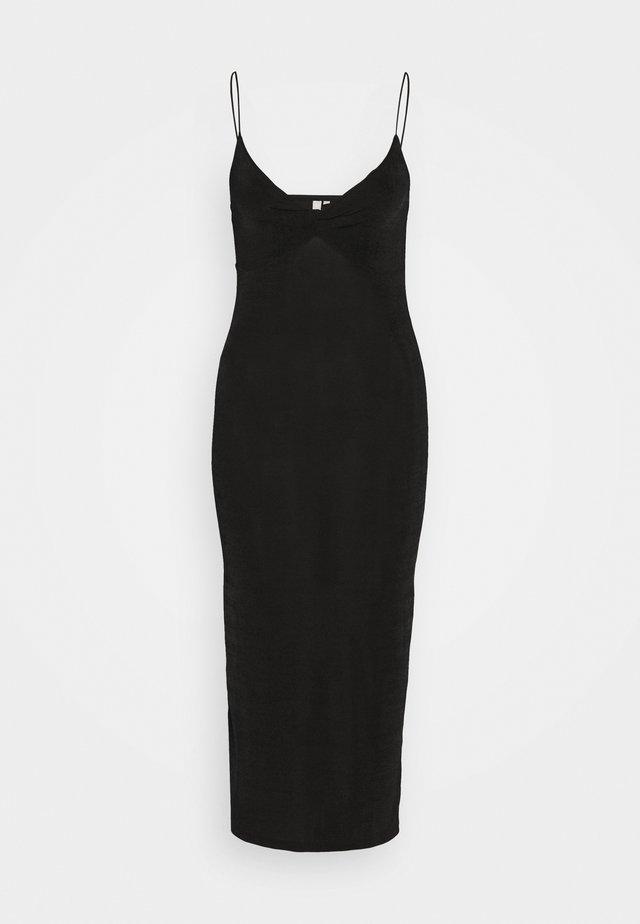 PCALBA STRAP DRESS - Jersey dress - black