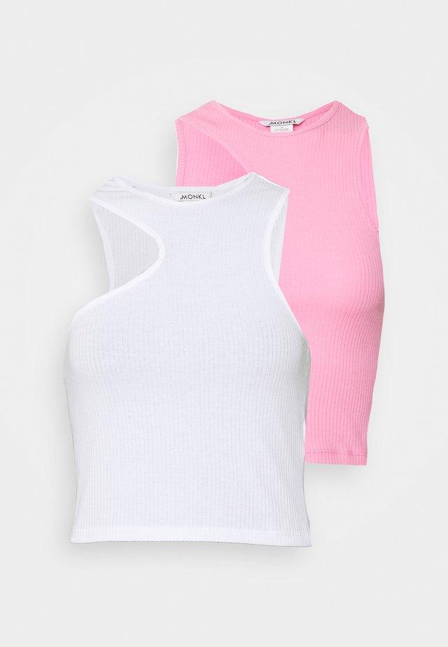 2 PACK - Top - white light/pink medium
