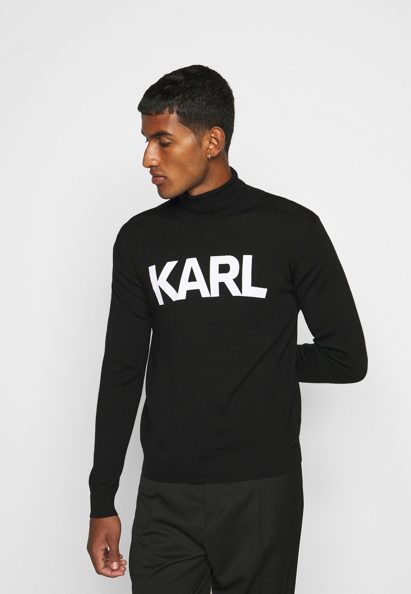KARL LAGERFELD - ROLLNECK - Jumper - black