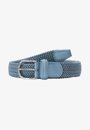 STRECH BELT UNISEX - Palmikkovyö - blue/grey