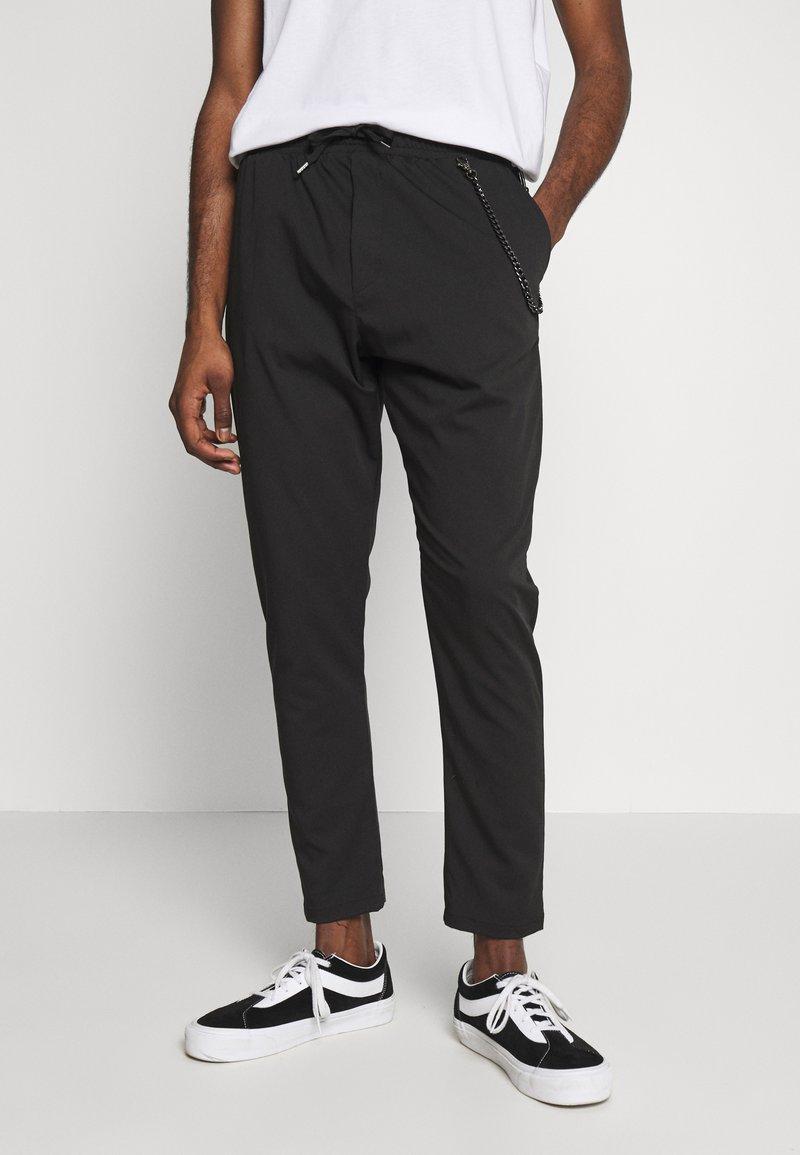 Gianni Lupo - PANTALACCIO - Trousers - black