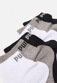 Puma - QUARTER PLAIN 6 PACK UNISEX - Calcetines de deporte - grey/white/black - 1