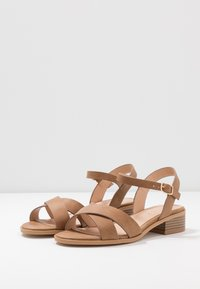 Office Wide Fit - MEASURE WIDE FIT  - Sandals - tan - 4