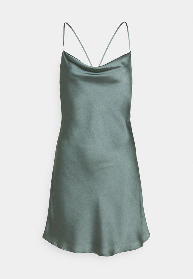 CHASE SLIP MINI DRESS - Cocktailklänning - green