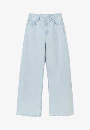 Široké džíny - light blue