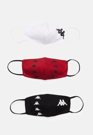 ZAFE 3 PACK - Látková maska - red/black/white