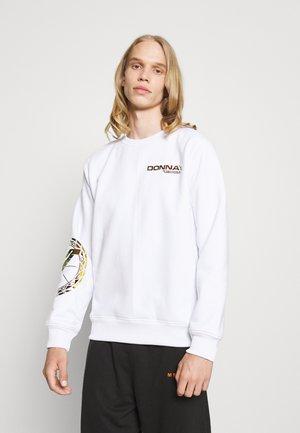 MIT IRISIERENDEM PRINT UNISEX - Sweatshirt - white