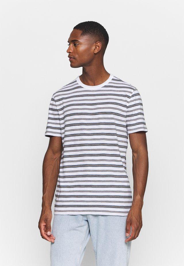 VINTAGE SLUB STRIPE CREW - Camiseta estampada - moroccan