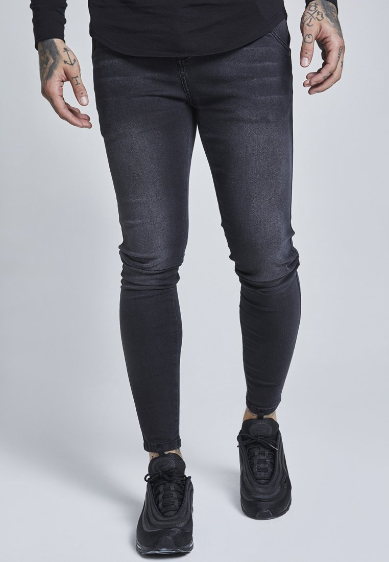 SIKSILK - Slim fit jeans - washed black