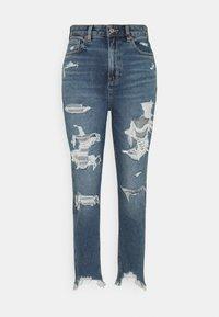 American Eagle - HIGHEST RISE MOM  - Slim fit jeans - destroy your blues - 0
