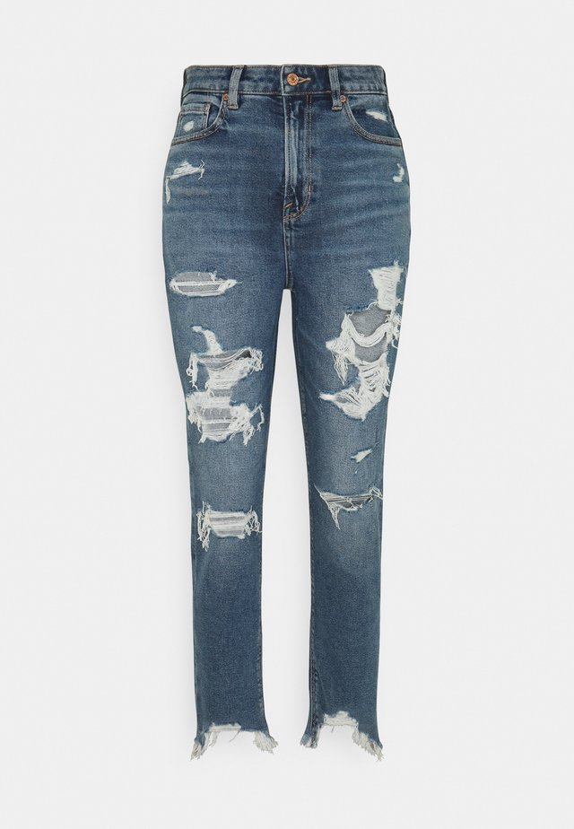 HIGHEST RISE MOM  - Slim fit jeans - destroy your blues