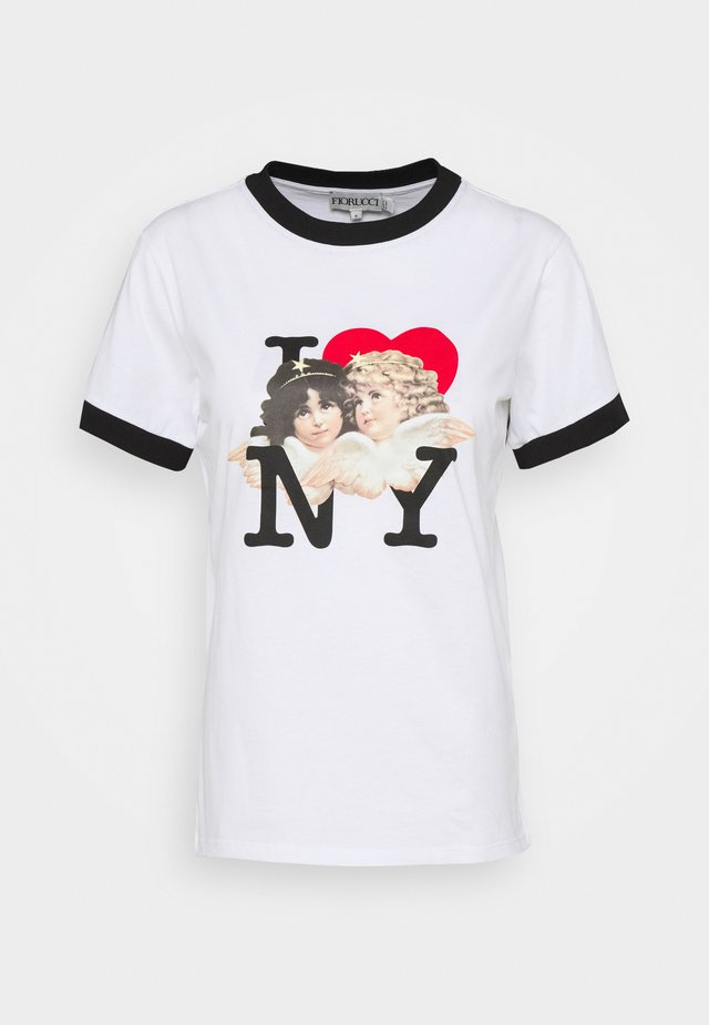 I LOVE NY TEE - Print T-shirt - white