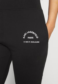 KARL LAGERFELD - ADDRESS LOGO - Tracksuit bottoms - black - 5