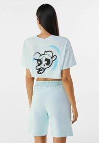 Bershka - POWERPUFF GIRLS - T-shirt imprimé - light blue - 2