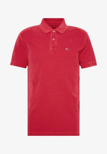 GARMENT DYE - Polo shirt - deep crimson