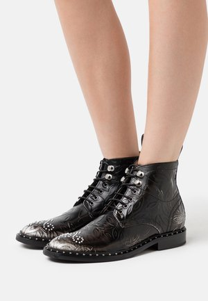 SALLY  - Lace-up ankle boots - white