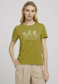 TOM TAILOR - Print T-shirt - gecko green - 0