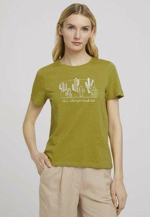 Camiseta estampada - gecko green