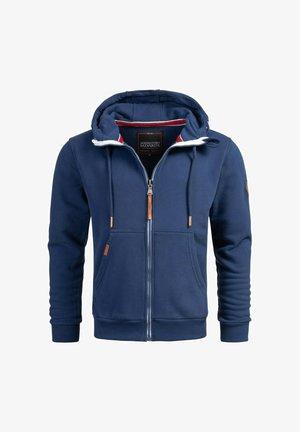 Zip-up hoodie - petrolblau