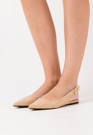 Slingback ballet pumps - natural