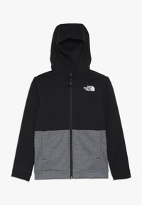 The North Face - SLACKER - Huvtröja med dragkedja - tnf black - 0