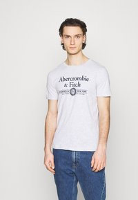 Abercrombie & Fitch - 3 PACK - T-shirt med print - white - 3