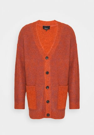 COZY LAYERING CARDIGAN - Cardigan - bright orange