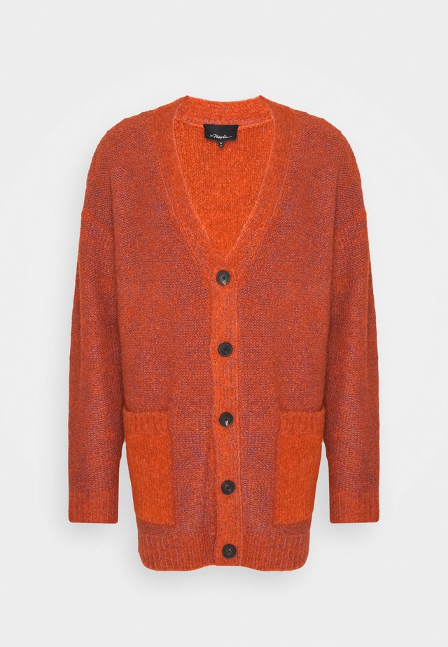 COZY LAYERING CARDIGAN - Vest - bright orange