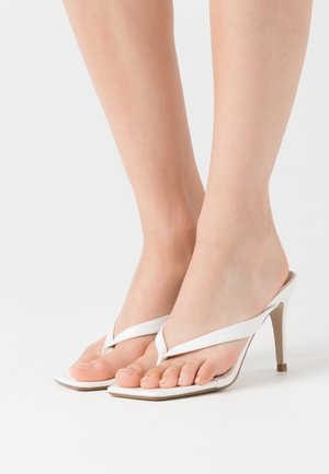 MID HEEL - Sandály na vysokém podpatku - white