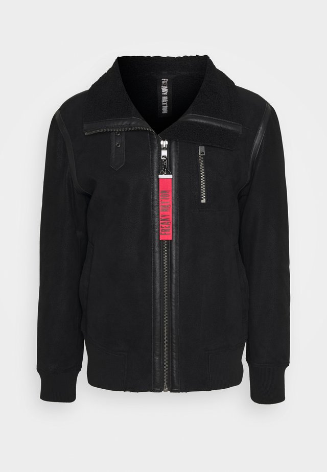 TOGIAK - Leather jacket - black