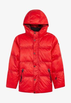 Softshellová bunda - fiery red