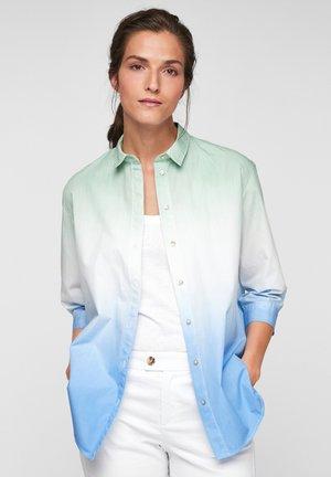 MET KLEURVERLOOP - Overhemdblouse - blue tie dye