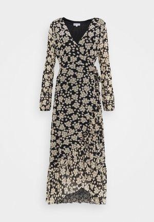 NATASJA FRILL DRESS - Robe d'été - black/oatmeal