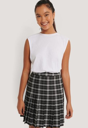 A-line skirt - black white