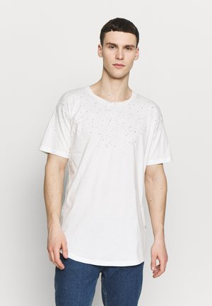 JORHIDE CREW NECK - Print T-shirt - cloud dancer/american