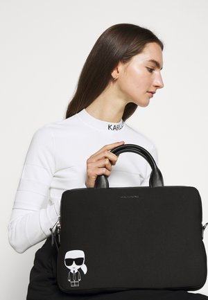 IKONIK LAPTOP SLEEVE STRAP - Portfölj - black