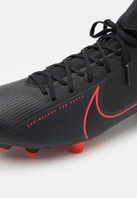 Nike Performance - MERCURIAL 7 ACADEMY FG/MG - Fußballschuh Nocken - black/dark smoke grey - 5
