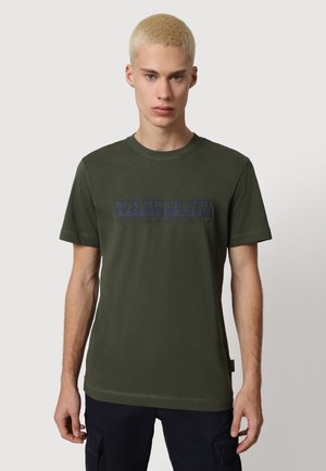 SERBER PRINT - T-shirt med print - green depths