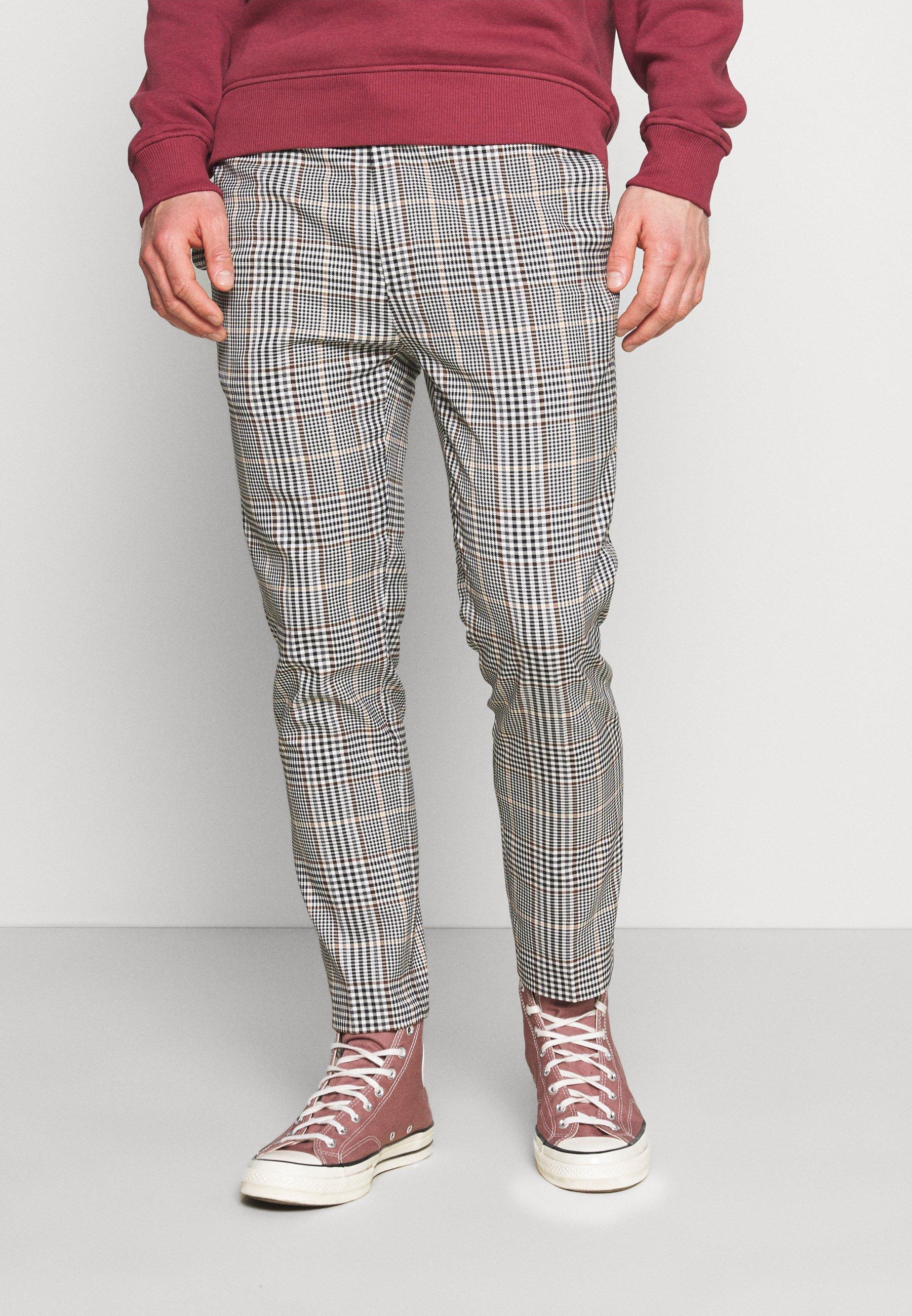 Men HERI CHECK WHYATT - Trousers