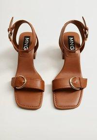 Mango - MORE - Sandals - halvbrun - 5