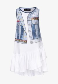 Desigual - CUAUTITLÁ - Jersey dress - blanco - 0